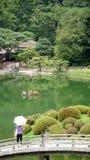 Сад Takamatsu Япония Ritsurin Koen Стоковые Изображения RF