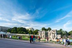 Сад Trocadero с дворцом Chaillot Стоковое фото RF