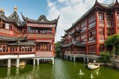 Сад Yu или сад Yuyuan, Шанхай Стоковое Фото