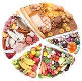 сбалансированная еда диетпитания Стоковое фото RF