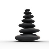 сбалансированное Дзэн рядка камушков Стоковое Фото