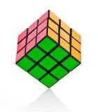 сбалансированное rubik s кубика Стоковое Фото