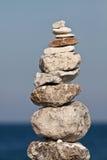 Сбалансированный стог камушков Стоковое Фото