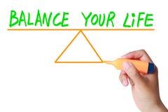 Сбалансируйте вашу жизнь Стоковые Изображения