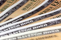 Сберегательные облигации Соединенных Штатов - серия EE Стоковое Фото