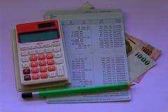 Сберегательный счет, дело на белой предпосылке Стоковая Фотография
