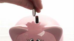 сбережениа дег банка piggy кладя акции видеоматериалы