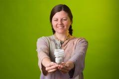 сбережениа света энергии шарика Стоковые Изображения RF