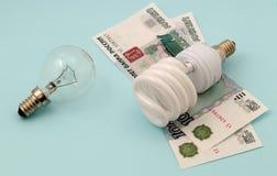 сбережениа светильника энергии Стоковое Изображение