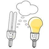 сбережениа светильника энергии иллюстрация штока
