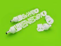 сбережениа энергии светлые Стоковое Фото