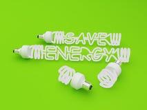 сбережениа энергии светлые Стоковое Изображение