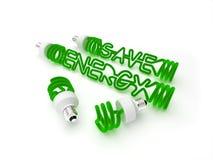 сбережениа энергии светлые Стоковая Фотография