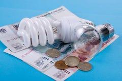 сбережениа дег светильника энергии Стоковые Изображения RF