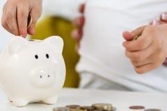 сбережения банка piggy Стоковое Изображение