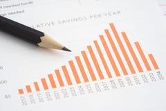 Сбережения бизнес-отчетов стоковое фото rf