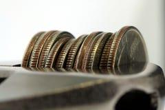 сбережения бюджети затягивают Стоковые Фото