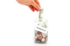 сбережения выхода на пенсию Стоковая Фотография