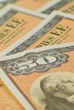 сбережения доллара 50 скреплений Стоковое Фото