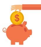Сбережения денег Стоковое фото RF