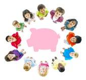 Сбережения копилки детей Стоковые Фотографии RF