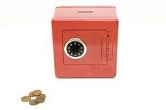 сбережения красного цвета комбинации банка Стоковое фото RF