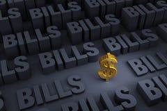 Сбережения окруженные путем маяча счеты Стоковое Изображение