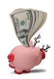 сбережения рождества банка piggy Стоковая Фотография