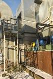 Сборник пыли с вентиляторами для угля боилера Стоковое фото RF