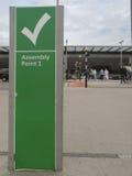 Сборочный пункт 1 на авиапорте Стоковое фото RF