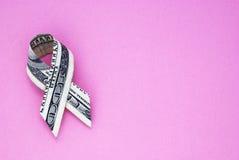 Сборщик денег рака молочной железы стоковые изображения