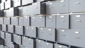 Сбор данных в контейнерах - перевод 3D Стоковые Фото