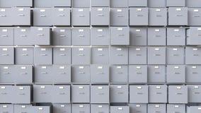 Сбор данных в контейнерах - перевод 3D Стоковое фото RF