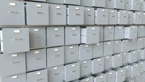 Сбор данных в контейнерах - перевод 3D Иллюстрация вектора