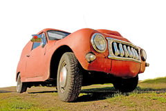 сбор винограда автомобиля красный ржавый Стоковые Изображения RF