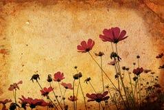 сбор винограда бумаги цветка предпосылки Стоковая Фотография