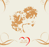 сбор винограда Валентайн открытки s Стоковые Фото