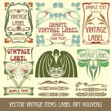 сбор винограда вектора деталей Стоковое Изображение