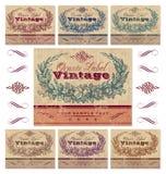 сбор винограда вектора комплекта ярлыков Стоковая Фотография