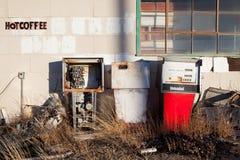 сбор винограда газовых насосов Стоковая Фотография