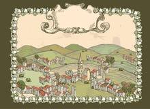 сбор винограда городка билета холмов Стоковое Изображение