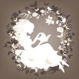 сбор винограда девушки книги Стоковые Изображения RF