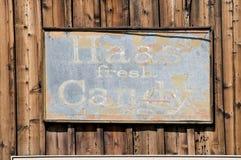 сбор винограда знака конфеты Стоковое Фото