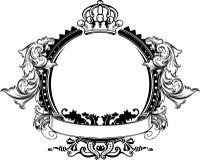 сбор винограда знака кроны одного цвета богато украшенный иллюстрация вектора