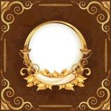 сбор винограда золота рамки иллюстрация вектора