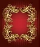 сбор винограда золота рамки Стоковое Изображение