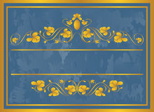 сбор винограда золота рамки иллюстрация штока
