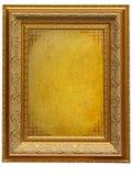 сбор винограда изображения пергамента пустой рамки золотистый Стоковое Изображение