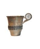 сбор винограда изолированный чашкой серебряный Стоковая Фотография