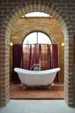 сбор винограда интерьера ванной комнаты Стоковые Фотографии RF